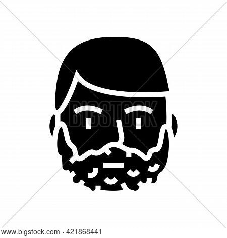 Foam For Shave On Man Face Glyph Icon Vector. Foam For Shave On Man Face Sign. Isolated Contour Symb