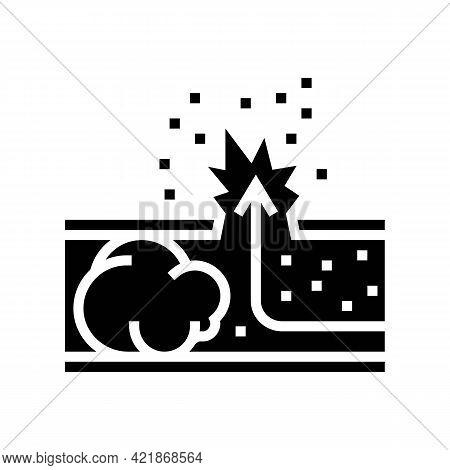 Brain Blood Stroke Glyph Icon Vector. Brain Blood Stroke Sign. Isolated Contour Symbol Black Illustr