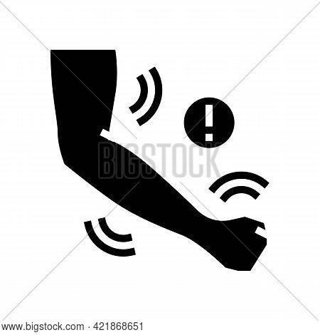Hand Stroke Glyph Icon Vector. Hand Stroke Sign. Isolated Contour Symbol Black Illustration