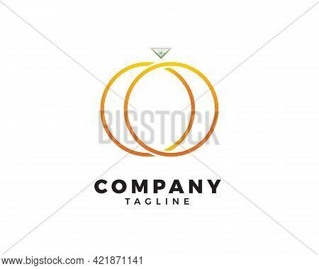 Diamond Ring Logo Design, Jewelry Logo, Design Concept For Luxury Jewelry Store