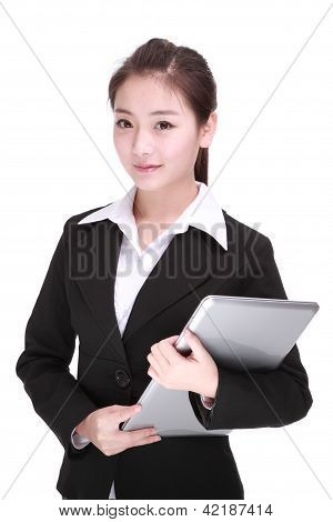 Business Woman With Computer