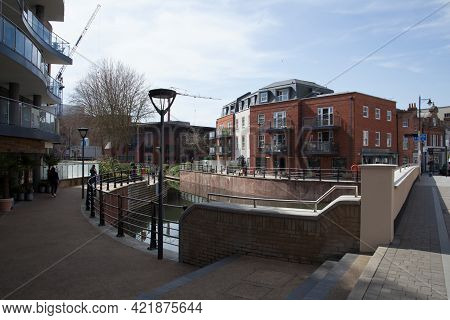 Apartments By The River In Maidenhead, Berkshire In The Uk, Taken 30th March 2021
