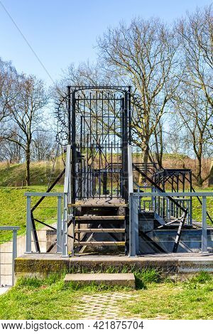 Historic Sluice Fort Everdingen In The Netherlands