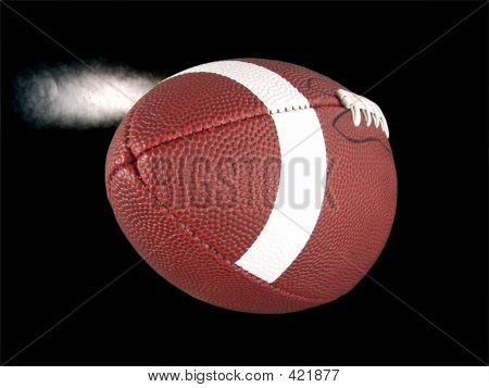 high resolution digital photo of an american football (with steam) close up.  digitally isolated on pure black background.  can be easily incorporated into any design. poster