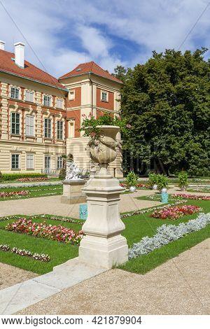 Lancut, Poland - August 26, 2020: 16th Century Baroque Lancut Castle, Former Polish Magnate Residenc
