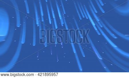 Colored Background Of Cosmic Flow Of Lines. Motion. Moving Stream Of Colored Lines And Sparkles. Sim