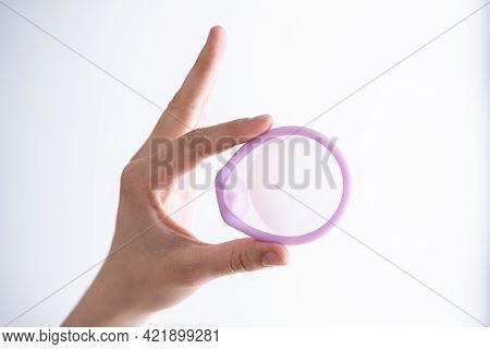 Diaphragm Vaginal Contraceptive Ring. Spermicide Contraception And Birth Control