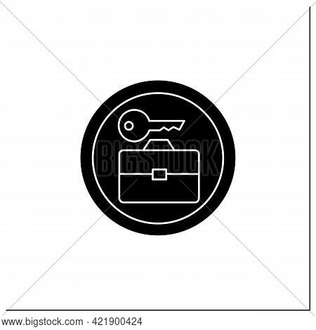 Baggage Lockers Symbol Glyph Icon. Luggage Room. Travel Service Sign. Public Place Navigation. Unive