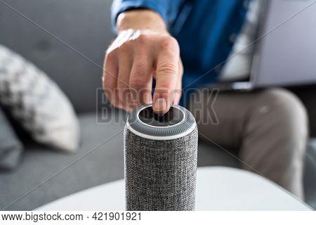 Using Smart Voice Assistant Wireless Mini Speaker