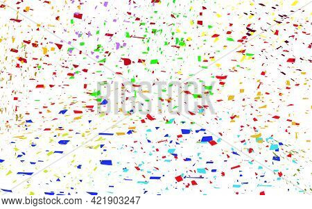 Confetti Abstract Multi Colored Vector Background Isolated Illustration