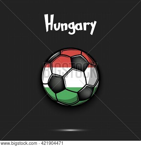 Soccer Ball With Hungary National Flag Colors