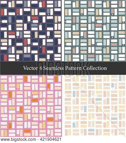 Vector Colorful Scandinavian Style Geometric And Modern Shape Illustration Motif Seamless Repeat Pat