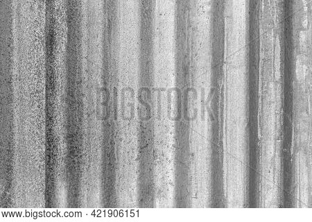 Old Galvanized Fence With Silver Stains Texture And Background Seamless