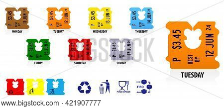 Set Of Plastic Clip Bread Bag Or Realistic Price Tag Bread Clip In Various Color Or Daily Code For C