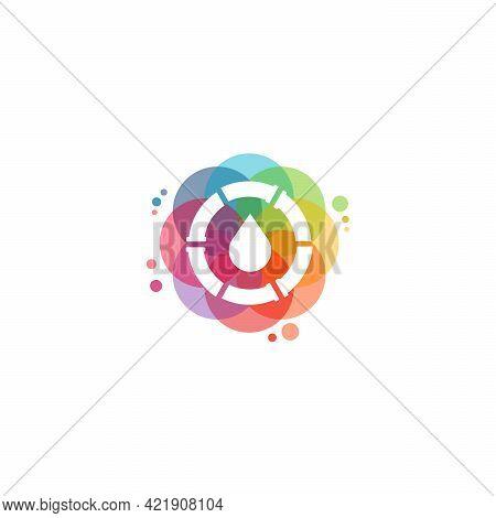 Colorful Plumbing Logo Vector, Water Drop Logo Designs Template, Design Concept, Logo, Logotype Elem