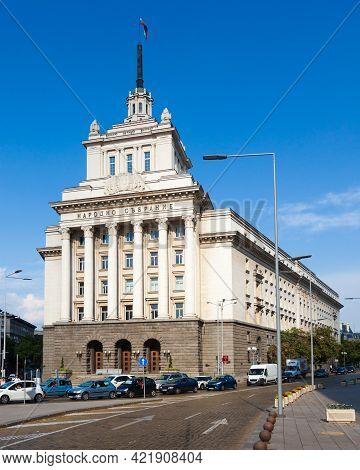 Sofia, Bulgaria - July 10: The Former Home Of The Communist Party On July 10, 2012 In Sofia, Bulgari