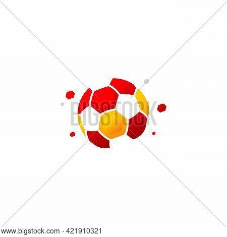 Soccer Ball Logo Vector, Simple Ball Logo Designs Template, Design Concept, Logo, Logotype Element F