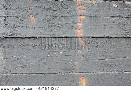 Wood Texture In Bitumen, Background For Creating Marine-themed Sites Selective Focus