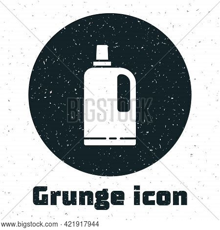Grunge Fabric Softener Icon Isolated On White Background. Liquid Laundry Detergent, Conditioner, Cle