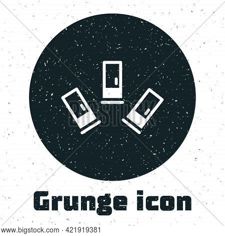 Grunge Cartridges Icon Isolated On White Background. Shotgun Hunting Firearms Cartridge. Hunt Rifle