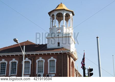 Lookout Turret On Top Of Old Residential Buiding