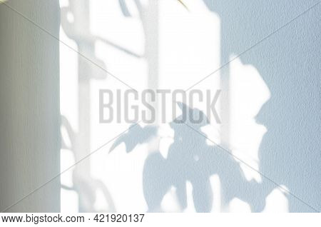 Architectural Shadows. Sunlight Architecture Abstract Background With Light, Black Shadow Overlay Fr