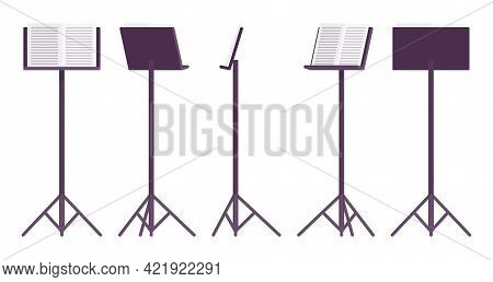 Sheet Music Stand, Black Tripod Pedestal For Performers, Singers Pedestal. Orchestras, Choirs, Bands