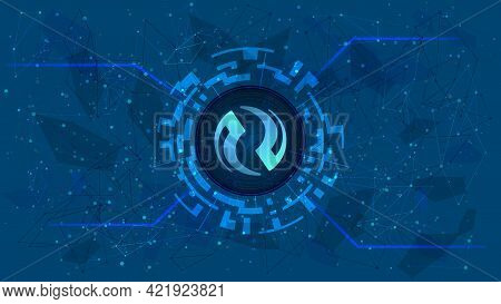 Injective Protocol Inj Token Symbol Of The Defi Project In Digital Circle With Cryptocurrency Theme
