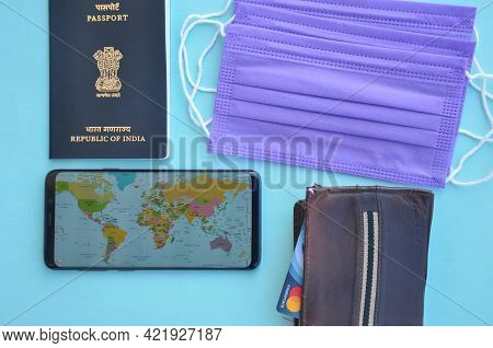 Mandi, Himachal Pradesh, India - 04 24 2021: Concept Of Traveling During Coronavirus Pandemic (covid