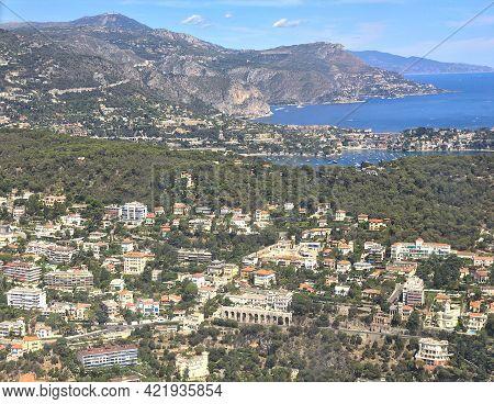 View Of Villefranche-sur-mer And Saint Jean Cap Ferrat, French Riviera