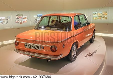 Germany, Munich - April 27, 2011: Bmw 2002 Ti Coupe In The Exhibition Hall Of The Bmw Museum. 16,448