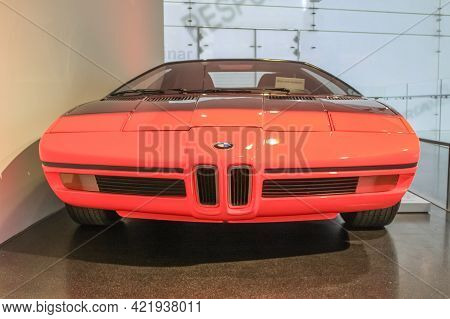Germany, Munich - April 27, 2011: Bmw Turbo Concept Car From 1972 In The Exhibition Hall Of The Bmw