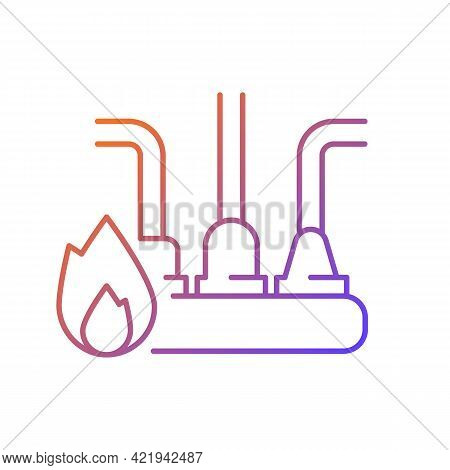 Circuit Overload Gradient Linear Vector Icon. Excessive Electricity Usage. Supplying Power To Severa