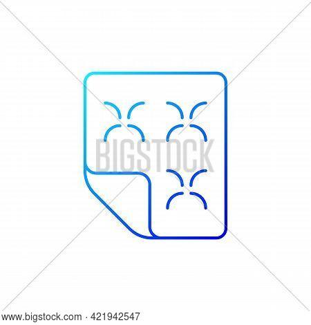 Duvet Gradient Linear Vector Icon. Linen Bedding. Mattress Cover, Dust Protector. Orthopedic Bedspre