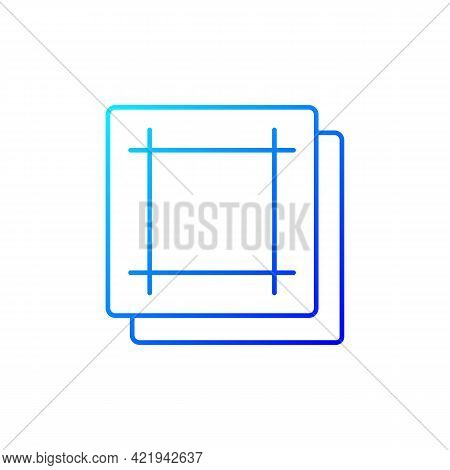 Napkin Gradient Linear Vector Icon. Soft Wipes. Kitchen Towels. Clean Linen Sheets. Textile Products