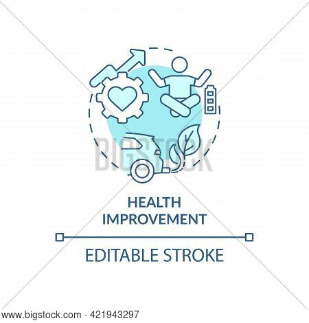 Health Improvement Concept Icon. Carbon Offsetting Benefit Abstract Idea Thin Line Illustration. Kee