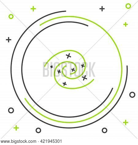 Line Black Hole Icon Isolated On White Background. Space Hole. Collapsar. Colorful Outline Concept.
