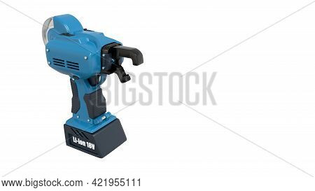 Electric Iron Rod Wire Tier Tool. Isolated Cgi Industrial 3d Illustration