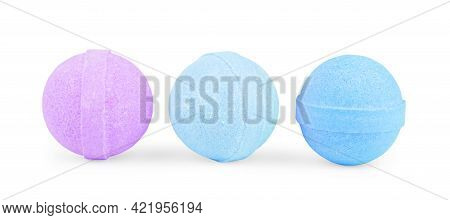 Aromatic Bath Bomb Isolated On White Healthy, Bomb, Soap, Multicolored, Safe, Bombs