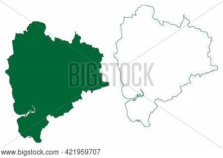Palghar District (maharashtra State, Konkan Division, Republic Of India) Map Vector Illustration, Sc
