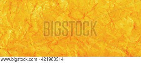 Yellow Golden Foil Background. Decorative Elegant Luxury Design. Metallic Golden Background. Shiny Y