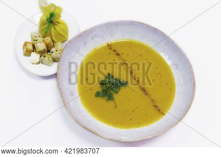 Middle Eastern Style Yellow Lentil And Cumin Soup