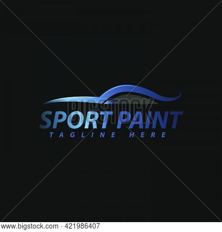 Automotive Paint Logo Design Template Isolated On White Background