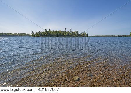 Clear Water In The Great North Woods In Kekekabic Lake In The Boundary Waters In Minnesota
