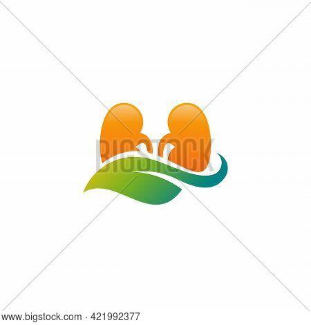 Leaf Kidney Logo Designs Concept Vector, Nature Kidney Logo Template