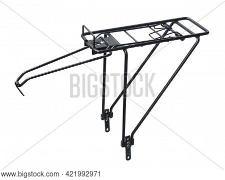 Rear Bike Pannier Rack (with Clipping Path) Isolated On White Background