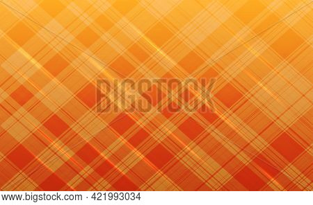 Abstract Orange Oblique Lines Intersecting On Gradient Background Vector Illustration