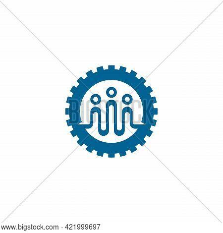 Engineering Logo Designs Concept Vector, People Gear Logo Template