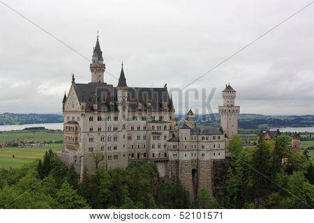Neuschwanstein Castle in Hohenschwangau, Bavaria, Germany.