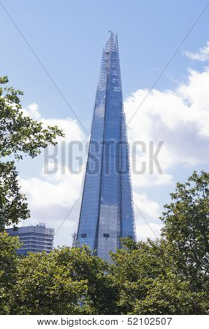 The Shard Surrounded By Trees, London
